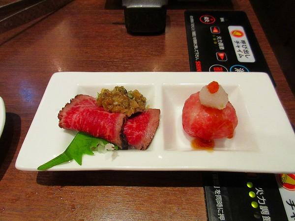 11.黒毛和牛のコールビーフ&手鞠寿司.jpg